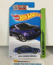 Bentley Continental Supersports #192 * BLUE * 2015 Hot Wheels * NH23