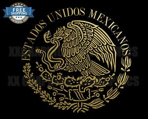 ESTADOS UNIDOS MEXICANOS DECAL MEXICAN EAGLE AGUILA DE MEXICO FLAG BANDERA