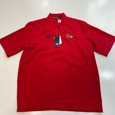 Louisville Cardinals Adidas Mens 1/2 Zip Pullover Red Short Sleeve V Neck M New