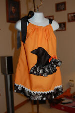 Halloween Pillow Case Dress Size Medium Fits Ages 3-5 with matching headband