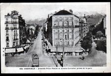GRENOBLE (38) TRAMWAY à l'HOTEL DE BORDEAUX & HOTEL de SAVOIE animés en 1938