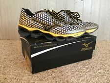 Mizuno Wave Prophecy 3 Mens 10 White / Yellow / Brown Running Shoes