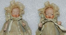 ANTIQUE ALL BISQUE SOCKET HEAD Sleeping & Angry 2 (two) FACES JOINTED BABY DOLL