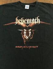 VTG Behemoth Horns Ov Baphomet T Shirt Rare Black Metal Death Ghost 2002 XL Orig