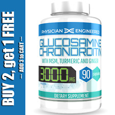 Glucosamine Chondroitin with COLLAGEN TYPE II 2 MSM Turmeric Ginger 3000MG 90ct