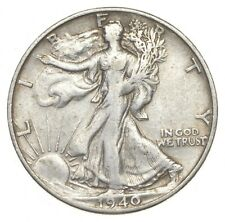 XF+ 1940-S Walking Liberty 90% Silver US Half Dollar - NICE COIN *967