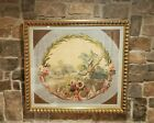 19th Century French Aubusson Tapestry Cartoon Gouache on Paper