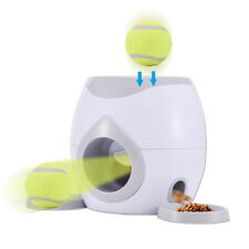 Automatic Pet Feeder Fetch Tennis Ball Launcher Interactive Dog Training Toys