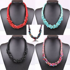 Bohemia Fashion Women Stone Beads Pendant Statement Collar Necklace Jewelry Gift