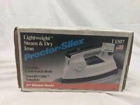 VTG White Proctor Silex Spray, 37 Steam Vents, Dry Iron I1307 Lightweight Works