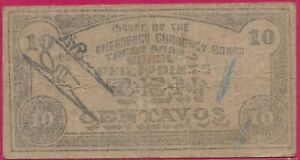 PHILIPPINES 10 CENTAVOS 1942 COMMONWEALTH OF THE PHILIPPINES,BOHOL EMERGENCY CUR