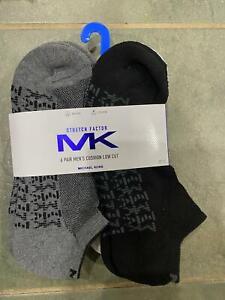 Michael Kors 3-pr/6-Pr Low Cut/Quarter Socks MK logo men's Size 7-12