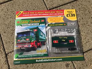 Build Your Own Eddie Stobart Haulage Truck Issue 1 Due Cast Scale 1:12 Hachette