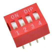 Switch commutateur interrupteur 4 positions DIP / 4 positions buttons Switch DIP