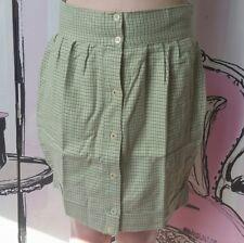 BNWT Size XS 8 Motel Rocks Topshop R&R Green White Houndstooth Tulip Razz Skirt