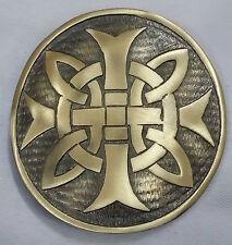 "Celtic Cross Round Kilt Belt Buckle Antique Finish 3""/Kilt Belt Buckle Celtic"