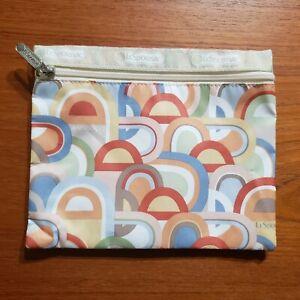 LeSportsac Zip Cosmetic Pouch Make Up Bag GEOMETRIC