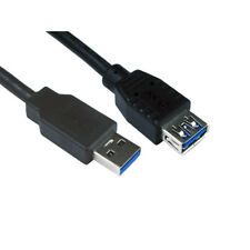 2m USB 3.0 EXTENSION Cable Lead Type A Male to A Female - Super Speed - Black