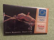 Vintage Pin Badge Olympic Athens 2004 High Jump Kodak