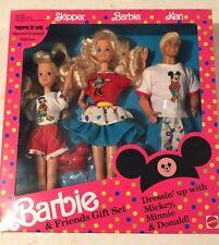 Barbie & Friends Gift Set Dressin'up with Mickey Minnie Donald Skipper Ken 1991