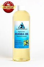 JOJOBA OIL CLEAR ORGANIC CARRIER COLD PRESSED REFINED 100% PURE 48 OZ
