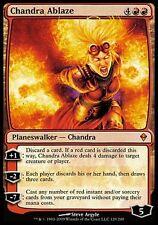 1x Chandra Ablaze Zendikar MtG Magic Red Mythic Rare 1 x1 Card Cards MP