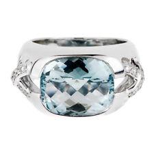 Tiffany & Co Aquamarine Diamond White Gold Ring (0000899)