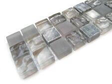 Glasbordüren 30x5cm Fliesen Bordüren Bad Bordüre Mosaikbordüre LAS49 grau