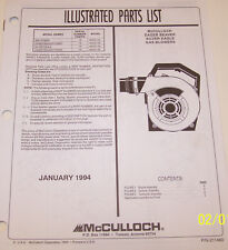 McCulloch Gas Blower/ Eager Beaver Power/Mac Power Oem Illustrated Parts List