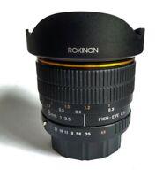 Rokinon 8mm f3.5 Lens Pentax PK / Olympus / Panasonic MFT