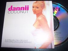 Dannii Minogue Coconut Rare Australian Card Sleeve Remixes CD Single
