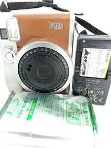 Fujifilm Instax Mini 90 Neo Classic Instant Film Camera Brown with 10 shots film