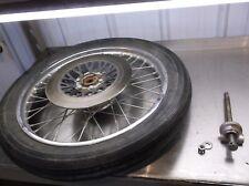 1980 Suzuki GS25x 250 Front Wheel w Brake Rotor Axle Speedo 80 GS GS250  T2-10