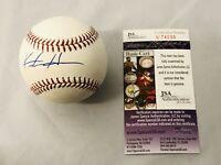 KESTON HIURA SIGNED OFFICIAL MLB BASEBALL MILWAUKEE BREWERS DEBUT AUTO+JSA COA!