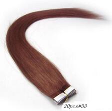 20pcs 20 inch Super Tape-in 100% Human Hair Extensions Remy A+ #33 (dark auburn)