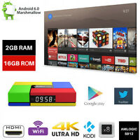 S912 T95K Pro 2G+16G 4K Smart TV Box Android 6.0 Octa Core XGODI Media Player
