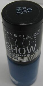 Maybelline ColorShow Nail Polish Lacquer Metallics,Shredded,Denims *Twin pack*