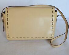 Krizia Shoulder Bag Womens Designer Handbag Beige Leather Satchel Panther Italy