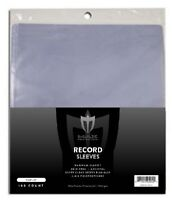 Pack of 100 Max Pro 4mil 33RPM Record Album Clear Archival Poly Outer Sleeves