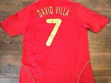 2007 2009 Spain David Villa Home Football Shirt Adults Large Camiseta