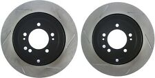STOPTECH MITSUBISHI EVO X 10 MR GSR REAR SLOTTED BRAKE ROTORS DISCS SET PAIR