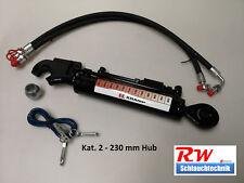 Hydraulischer Oberlenker Kat. 2, 230 mm Hub, gest. Rückschv., incl. Schläuche