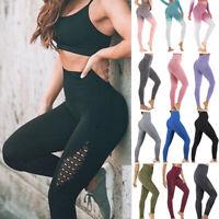 US Women Seamless Leggings Yoga Pants High Waist Gym Jogging Fitnes Compression