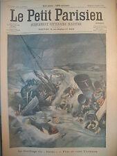 SAINT-MALO NAUFRAGE VAPEUR USINE A GAZ DE GENNEVILLIERS LE PETIT PARISIEN 1905