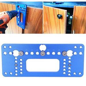Handle Door Aluminum Installation Jig Locator Puncher Woodworking Hole Opener