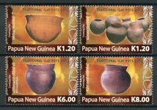 More details for papua new guinea png stamps 2012 mnh traditional clay pots cooking 4v set