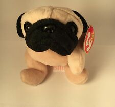 AUTHENTICATED by Becky's True Blue Beans Pugsly #4106 TY Beanie Baby 5-2-96 PVC