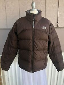 The North Face Nuptse Jacket Large brown 700 Goose Down Puffer Coat women's