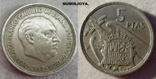 FRANCO 5 Pesetas año 1957 BA. BARCELONA Exposición IberoAmericana. Peso 5,77 gr.