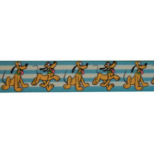 "Disney Pluto Cartoon Grosgrain Ribbon 7/8"" / 22mm x 1 Meter"